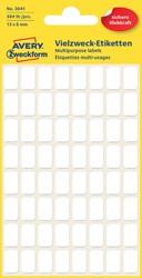 Etiket Avery Zweckform 3041 13x8mm wit 384stuks