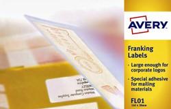 Frankeeretiket Avery FLO1 140x38mm 1000stuks