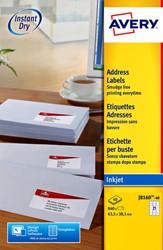 Etiket Avery J8160-40 63.5x38.1mm wit 840stuks