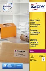 Etiket Avery L7565-25 99.1x67.7mm transparant 200stuks