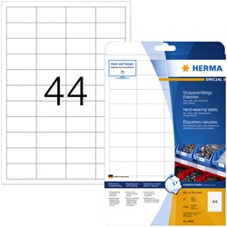 Etiket Herma 4690 48.3x25mm wit 1100stuks