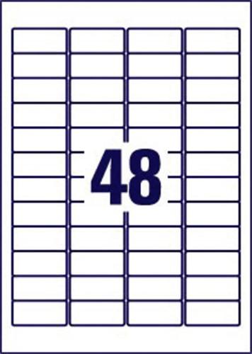 Etiket Avery L6009-20 45.7x21.2mm zilver 960stuks-3