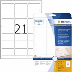 Etiket Herma 8017 63.5x38.1mm 525st transparant