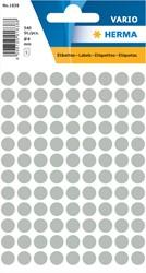 Etiket Herma 1838 rond 8mm grijs 540stuks