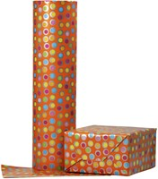 Apparaatrol brightsummer bolletjes oranje 200mx30cm-2