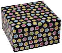 Inpakpapier gevouwen stip zwart 70x100cm-2