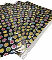 Inpakpapier gevouwen stip zwart 70x100cm-1