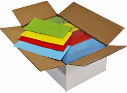 Cadeauzak kraft uni color 12x19cm assorti doos à 4x250 stuks