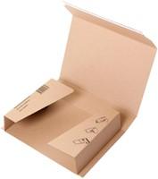 Wikkelverpakking Budget ringband +zelfklevende strip A4+ bruin-3