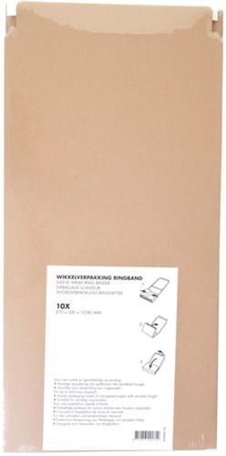 Wikkelverpakking Budget ringband +zelfklevende strip A4+ bruin-2