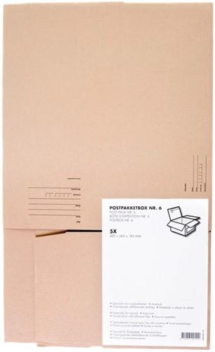 Postpakketbox Budget 6 485x260x185mm bruin-2