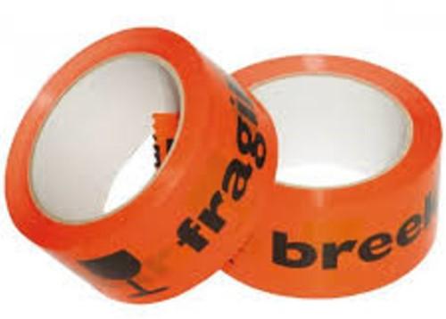 Waarschuwingstape Budget breekbaar 50mmx66m oranje/zwart-2