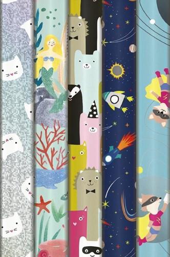 Inpakpapier Stewo fun for kids 200x70cm assorti