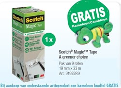 Onzichtbaar plakband Scotch Magic 900 19mmx33m 9 rollen
