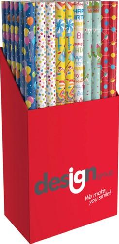 Inpakpapier Design Group party 200x70cm assorti