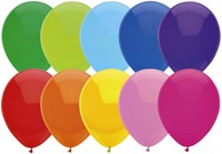 Ballon Haza uni 30cm 10 stuks assorti-2