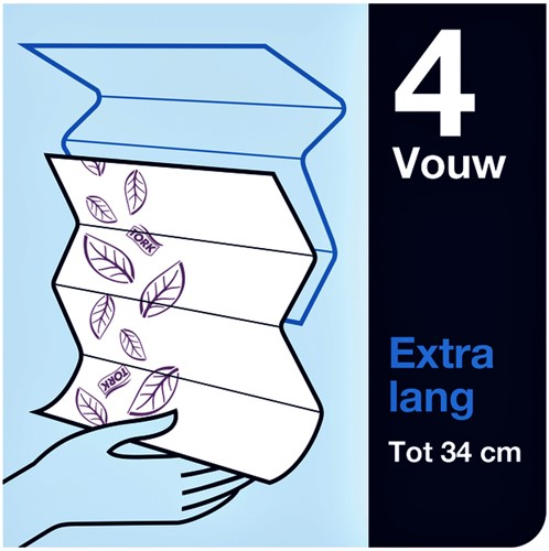 Handdoek Tork H2 100297 Premium 2laags 21x34cm 21x100st-3