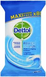 Desinfecterende doekjes Dettol Power & Fresh 80st