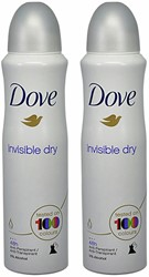 Deodorant Dove Invisible Dry 2x150ml