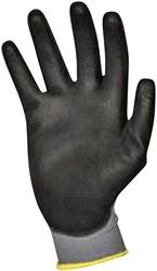 Handschoen grip PU-flex zwart medium