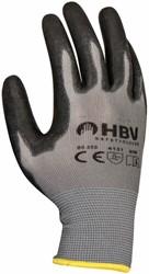 Handschoen grip PU-flex zwart large