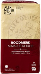 Koffie Alex Meijer Roodmerk snelfiltermaling 500gr