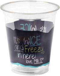Beker transparant Depa pet ice is nice 300cc 50 stuks