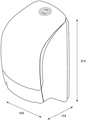 Dispenser Katrin 104582 toiletpapier doprol wit-3