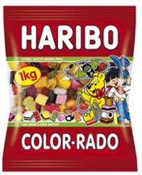 Haribo Color-Rado wine gum + Engelse drop 1kg