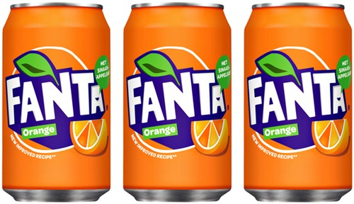 Frisdrank Fanta Orange blikje 0.33l-2