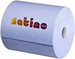 Poetsrol Satino Comfort 2-laags 35cmx350m blauw