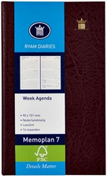 Agenda 2021 Ryam memoplan 7 staand Mundior bordeaux