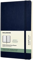 Agenda 2021-2022 Moleskine 18 maanden 7 dag/1 pag large soft blauw
