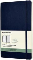 Agenda 2022 Moleskine 12mnd large soft blauw