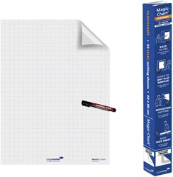 Magic-Chart Legamaster flipchart 60x80cm wit met ruit
