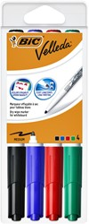 Viltstift Bic 1744 whiteboard rond ass 1.4mm blister à 4st
