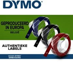 Labeltape Dymo rol 9mmx3M glossy vinyl assorti