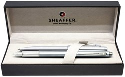 Schrijfset balpen en vulpen M Sheaffer 100 chroom/nikkel