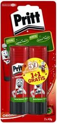 Lijmstift Pritt 43gr blister à 1 + 1 stuk gratis