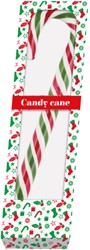 Kerststok candy cane 100gr rood/wit/groen