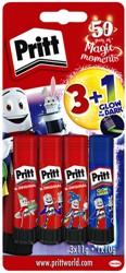 Lijmstift Pritt 11gr blister à 3 stuks + 1 lijmstift  glow in the dark