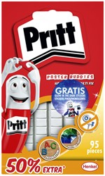 Buddies Pritt dubbelzijdige kleefpad poster blister à 95 stuks 50% en glow stickers gratis