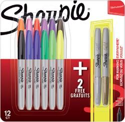 Viltstift Sharpie metallic rond 0.9mm blister à 14 stuks assorti