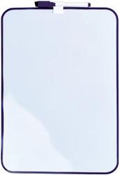Whiteboard Desq 24x34cm + marker paars profiel