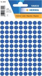 Etiket Herma 1833 rond 8mm donkerblauw 540stuks