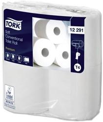 Toiletpapier Tork T4 12291 Premium 2laags 198vel 48rollen wit