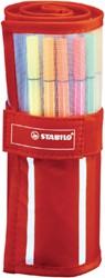 Fineliner STABILO Pen 68 rood rollerset á 30 kleuren