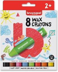 Waskrijt Bruynzeel Kids set à 8 stuks assorti