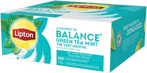 Thee Lipton Balance Green tea mint 100stuks