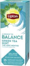 Thee Lipton Balance Groene thee Munt 25stuks